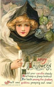 Halloween képeslap: szellemek